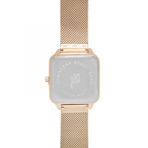 horloge vierkant goud.5