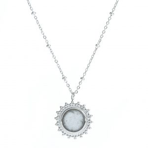 ketting zilver wit