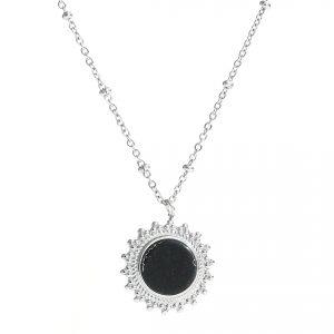 ketting zilver zwart