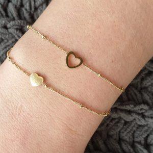 armbandjes hartjes goud