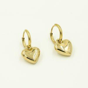 oorbellen hartje goud