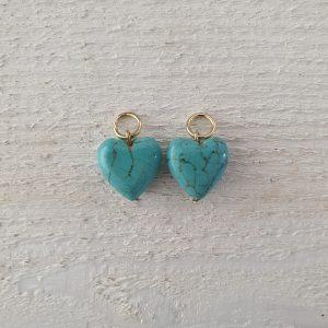 goud turquoise hart