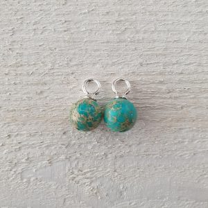 zilver turquoise rond