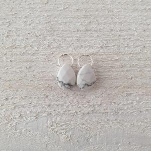 zilver wit marmer ovaal