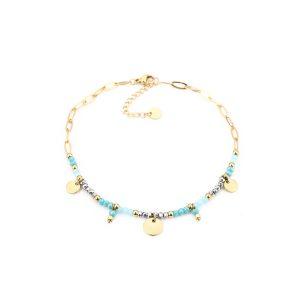 enkelbandje blauw – turquoise