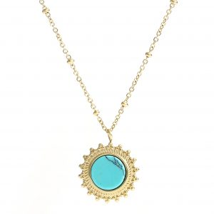 ketting goud turquoise
