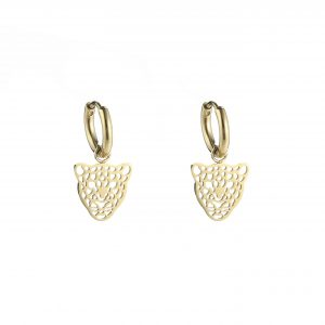oorbellen panter kopje goud
