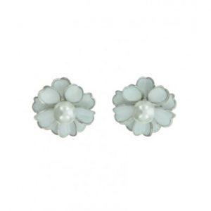 witte bloem clips