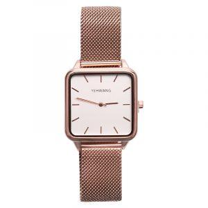 horloge vierkant rose.2