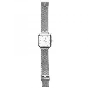 horloge vierkant zilver.1