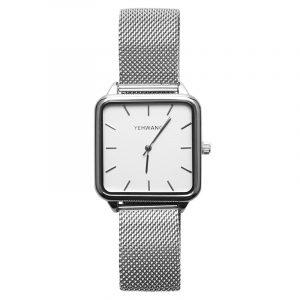 horloge vierkant zilver.2