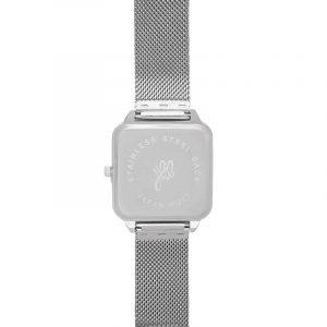 horloge vierkant zilver.5