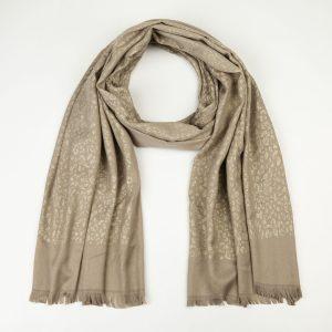 beige luipaard sjaal
