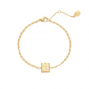 armband head up & no regrets goud