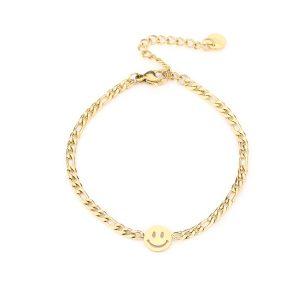 JE13522 smiley goud