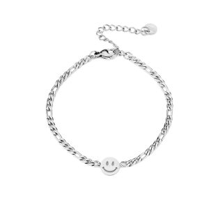 JE13522 smiley zilver